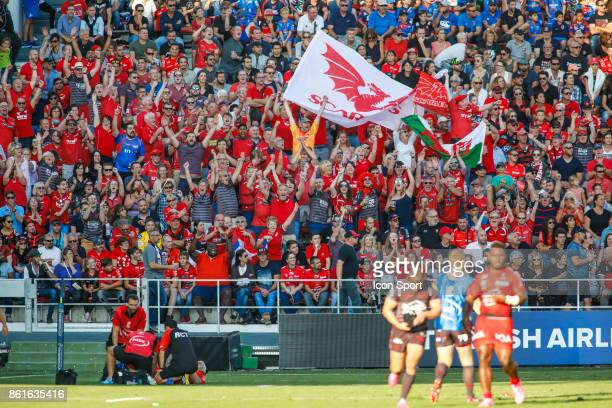 Fans of Scarlets during the European Champions Cup match between Toulon and Scarlets on October 15 2017 in Toulon France