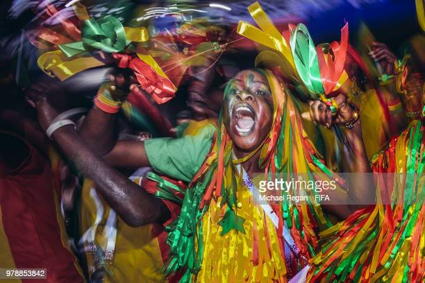 Fans of Senegal show their support during the 2018 FIFA World Cup Russia group H match between Poland and Senegal at Spartak Stadium on June 19 2018...