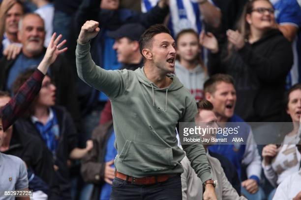 Fans of Sheffield Wednesday during the Sky Bet Championship match between Sheffield Wednesday and Sheffield United at Hillsborough on September 23...