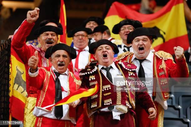 Fans of Spain National team during UEFA EURO 2020 Qualifiers match - Sweden v Spain at Friends Arena on October 15 in Stockholm, Sweden.