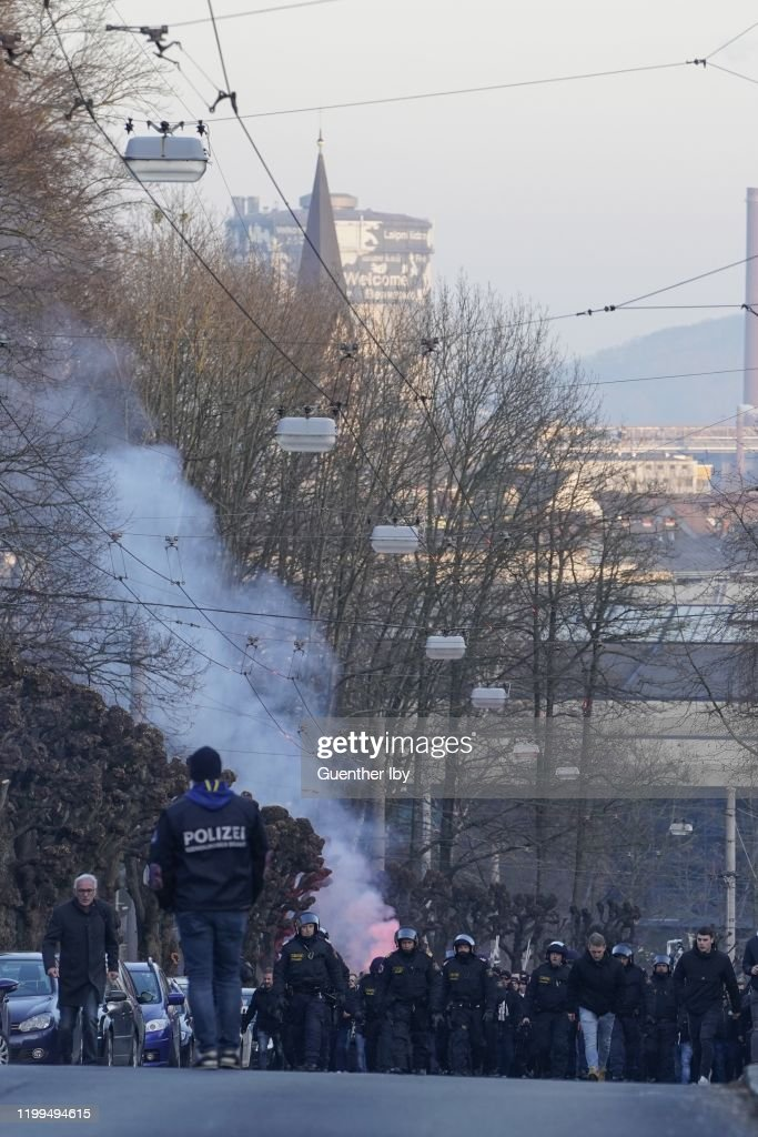 Fans Of Sturm Graz On The Way To Stadion Der Stadt Linz Before The News Photo Getty Images
