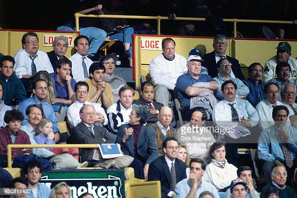 Fans of the Boston Celtics during a game played in 1995 against the Chicago Bulls at the Boston Garden in Boston Massachusetts NOTE TO USER User...