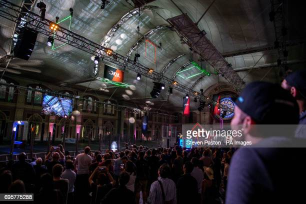 Fans of The Drone Racing League watch the Allianz World Championship at Alexandra Palace London PRESS ASSOCIATION Photo Picture date Tuesday June 13...