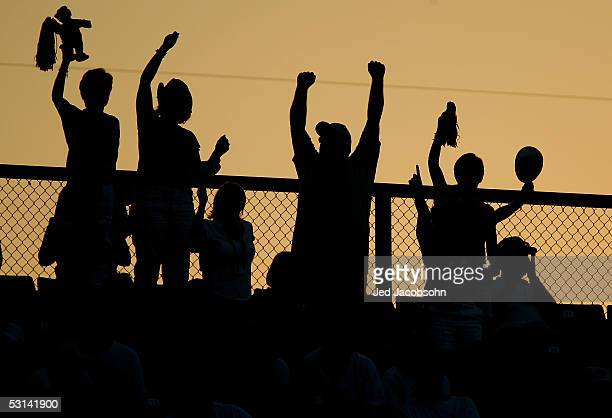 Fans of the Florida Gators cheer during Game 13 of the 59th College World Series against the Arizona State Sun Devils at Rosenblatt Stadium on June...