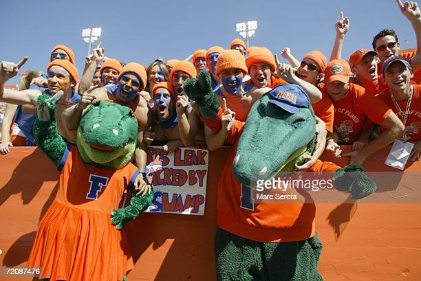 Fans of the Florida Gators cheer during the game against the Alabama Crimson Tide on September 30 2006 at Ben Hill Griffin Stadium at Florida Field...