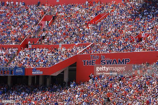Fans of the Florida Gators fill the stands during the game against the Mississippi Rebels at Ben Hill Griffin Stadium on September 27 2008 in...