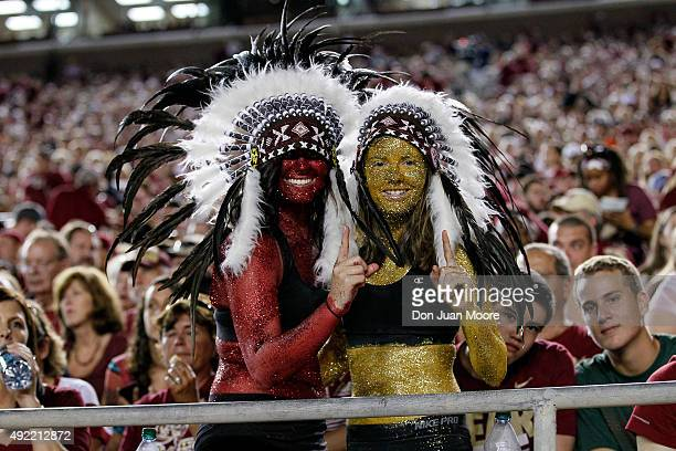 Fans of the Florida State Seminoles during the game against the Miami Hurricanes at Doak Campbell Stadium on Bobby Bowden Field on October 10 2015 in...