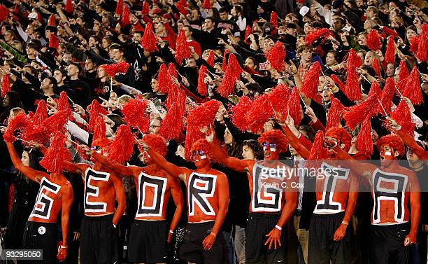 georgia bulldog fans georgia bulldogs stock photos and pictures getty images 1215
