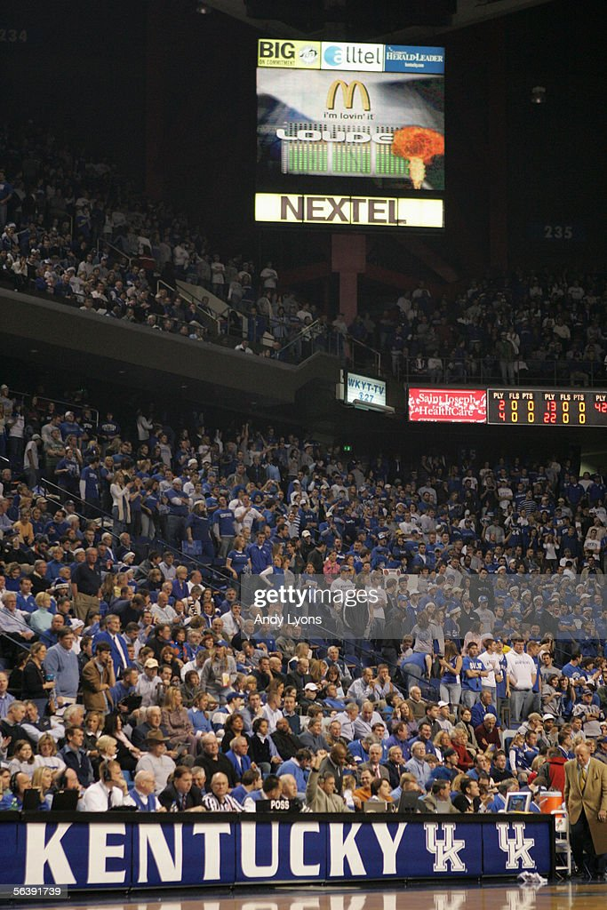 Fans of the Kentucky Wildcats looks on in support during the game against the North Carolina Tar Heels on December 3, 2005 at Rupp Arena in Lexington, Kentucky. North Carolina defeated Kentucky 83-79.