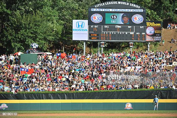 Fans of the little league world series watch the game between California and Asia Pacific in the little league world series final at Lamade Stadium...