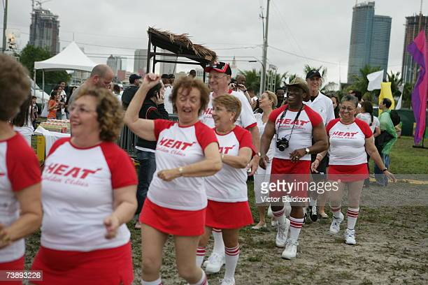 Fans of the Miami Heat attend the 2007 Family Festival on April 15 2007 at Watson Island in Miami Florida NOTE TO USER User expressly acknowledges...