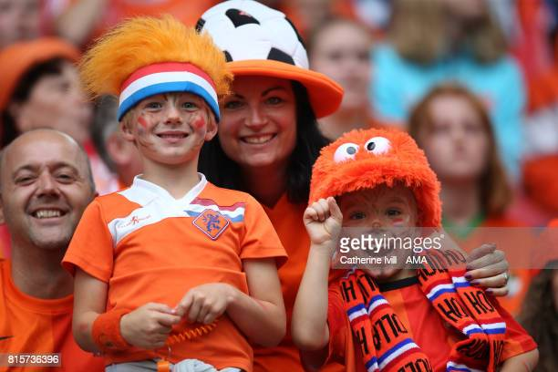 Fans of the Netherlands during the UEFA Women's Euro 2017 Group A match between Netherlands and Norway at Stadion Galgenwaard on July 16 2017 in...