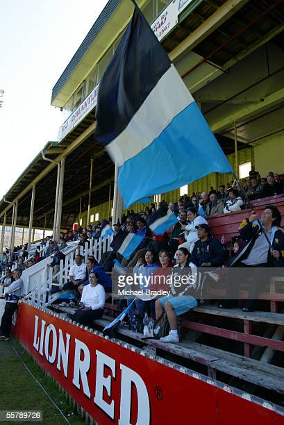 Fans of the Otahuhu team cheer on their team during the Fox Memorial final between Otahuhu and the Hibiscus Coast Raiders The Bartercard Cup and Fox...