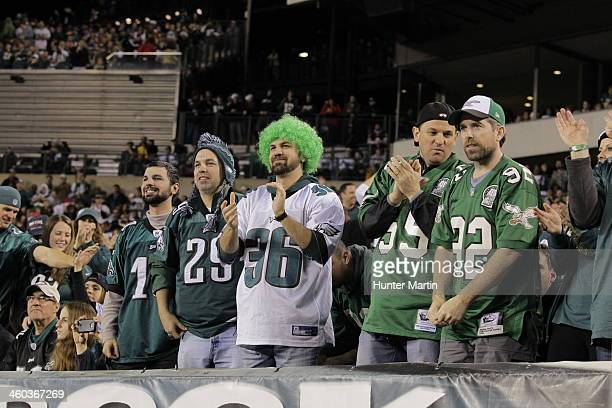 Fans of the Philadelphia Eagles cheer during a game against the Chicago Bears on December 22 2013 at Lincoln Financial Field in Philadelphia...