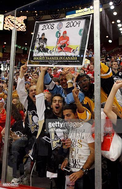 Fans of the Pittsburgh Penguins celebrate after defeating the Detroit Red Wings by a score of 21 to win Game Seven and the 2009 NHL Stanley Cup...