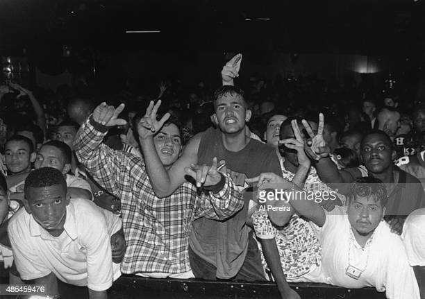 Fans of the rap group '2 Live Crew' poses attend an event in circa 1988 in New York