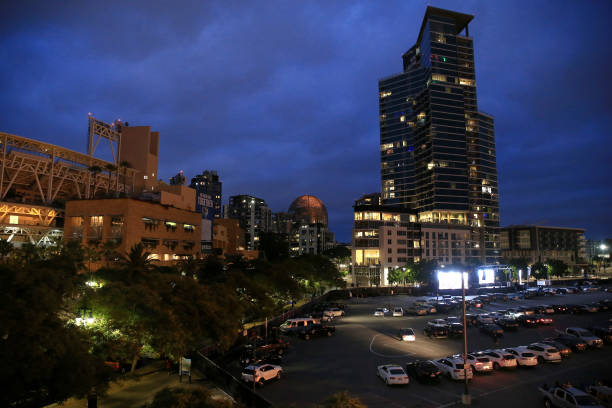 CA: San Diego Padres Host Drive-In Movie Experience at Petco Park