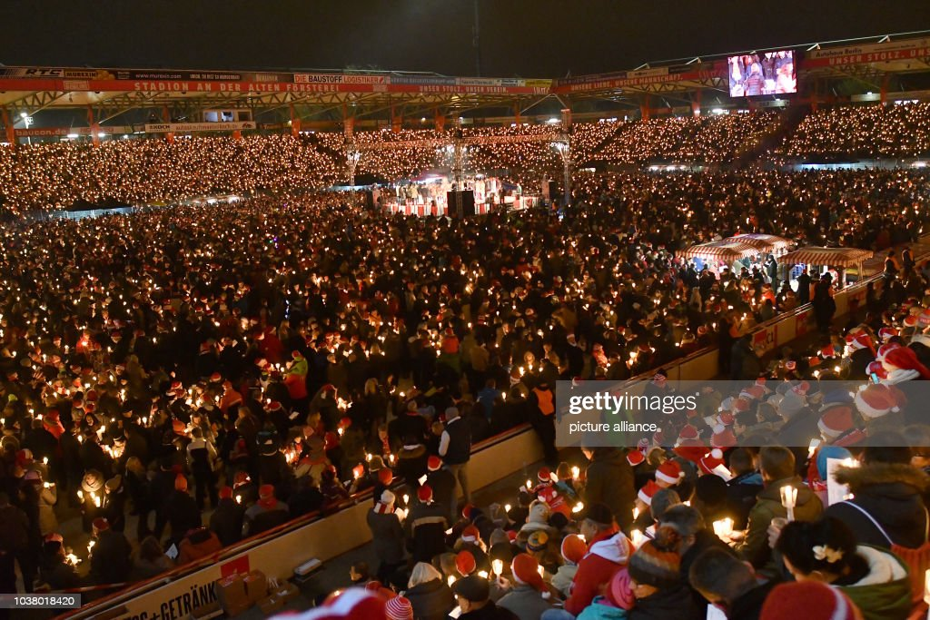 fans of the second league german soccer team 1 fc union sing christmas carols in