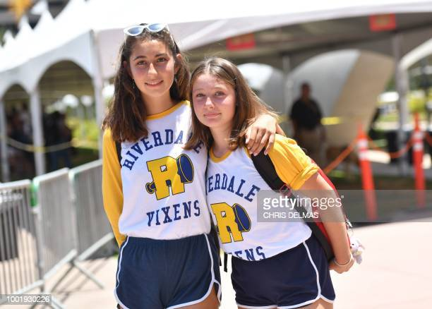 Fans of the show 'Riverdale' pose at Comic Con in San Diego July 19 2018 The Comic Con fan convention brings 130000 visitors a year to San Diego...