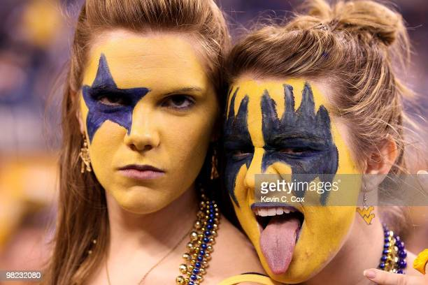 Fans of the West Virginia Mountaineers support their team against the Duke Blue Devils during the National Semifinal game of the 2010 NCAA Division I...