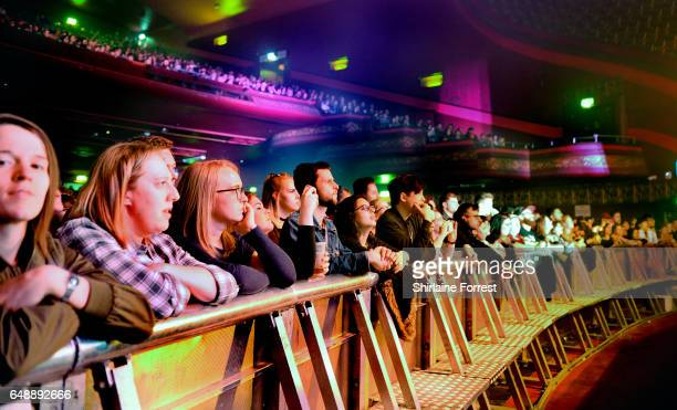 Fans of The XX enjoy the band performing at O2 Apollo Manchester on March 6 2017 in Manchester United Kingdom