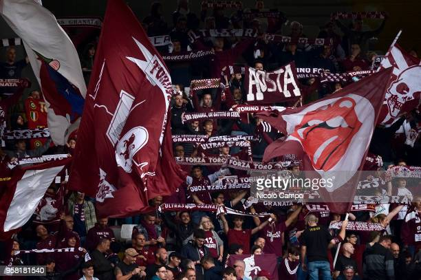 Fans of Torino FC show their support during the Serie A football match between Torino FC and Spal Torino FC won 21 over Spal