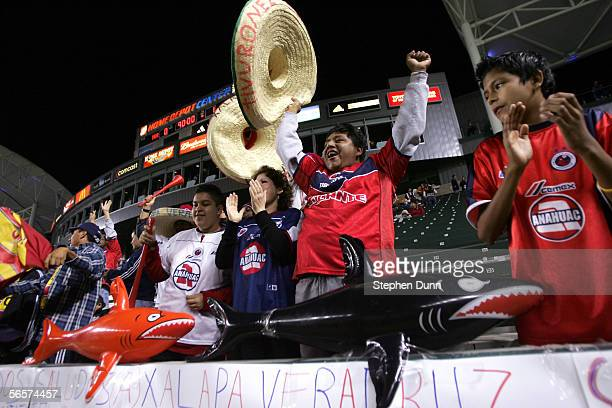 Fans of Veracruz cheer after their team defeated Morelia 10 during Interliga 2006 a qualification tournament for Mexico club teams for the Copa...