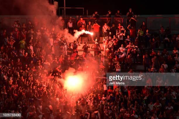 Fans of Veracruz during the 7th round match between Veracruz and Tijuana as part of the Torneo Apertura 2018 Liga MX at Luis 'Pirata' de la Fuente...