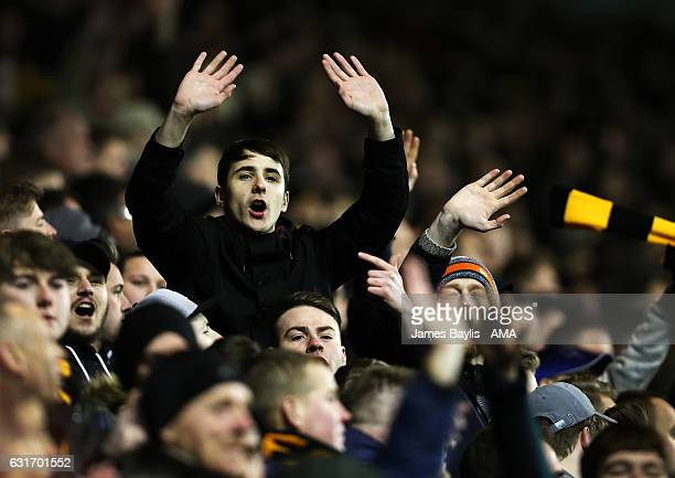 Fans of Wolverhampton Wanderers during the Sky Bet Championship match between Wolverhampton Wanderers and Aston Villa at Molineux on January 14 2017...