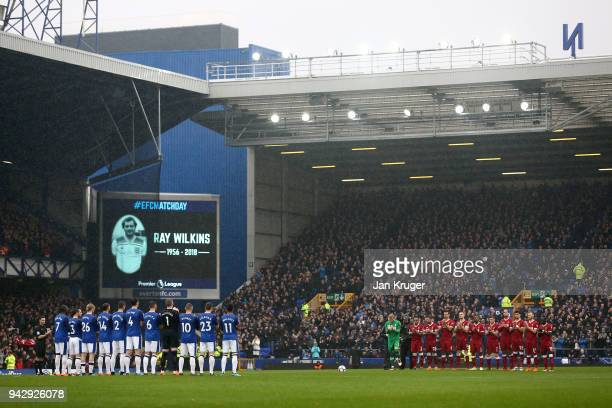 Fans officials and players take part in a minute of appluse for Ray Wilkins who passed away earlier in the week ahead of the Premier League match...
