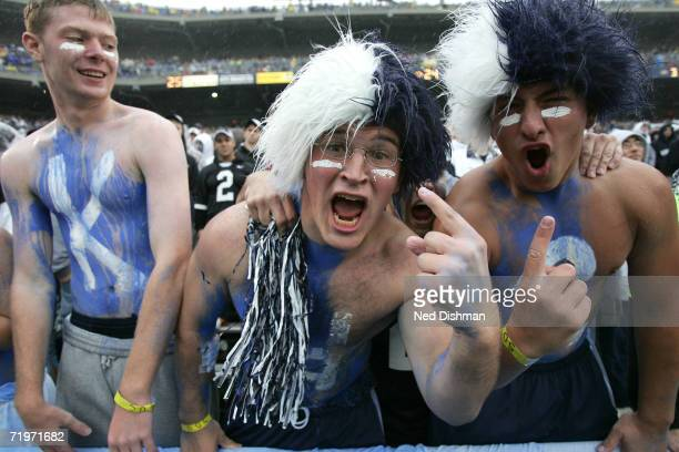 Fans on the Penn State Nittany Lions cheer against the University of Akron Zips at Beaver Stadium on September 2 2006 in State College Pennsylvania...