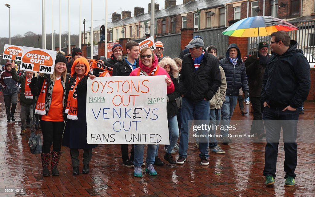 Fans outside the ground before todays game between the Emirates FA Cup Fourth Round match between Blackburn Rovers and Blackpool at Ewood Park on January 28, 2017 in Blackburn, England.