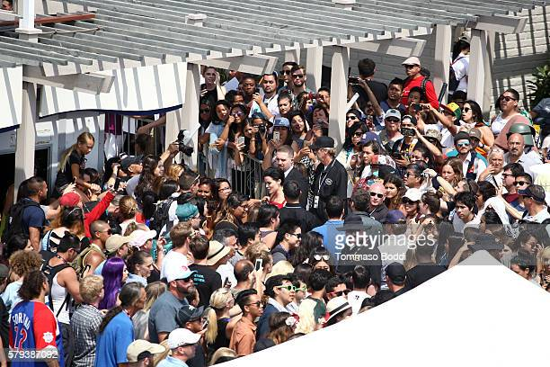 Fans outside the IMDb Yacht at San Diego ComicCon 2016 Day Three at The IMDb Yacht on July 23 2016 in San Diego California