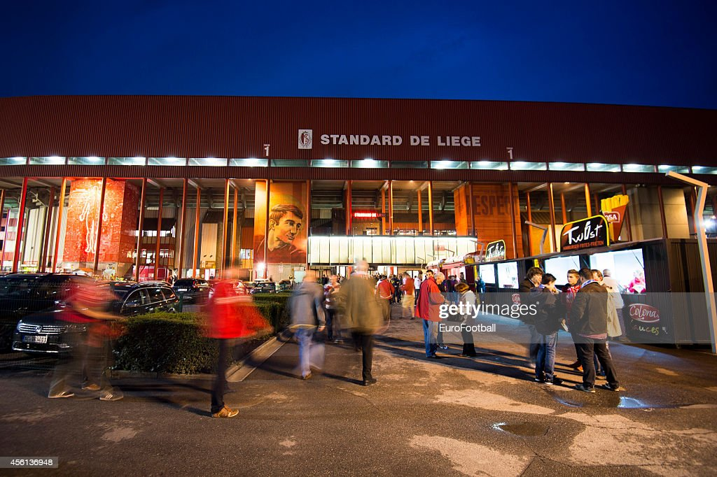 Fans outside the stadium before the UEFA Europa League Group G match between R. Standard de Liege and HNK Rijeka at the Stade Maurice Dufrasne on September 18,2014 in Liege,Belgium.