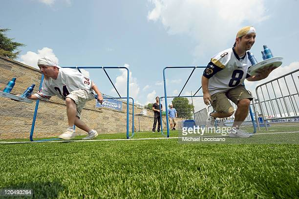 Fans participate at Bud Light NFL Fan Camp during Hall of Fame Enshrinement at Pro Football Hall Of Fame on August 6 2011 in Canton Ohio