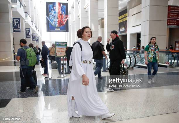 Fans participate in the Star Wars celebration in Chicago on April 11, 2019. - Fans from all over the world gather in Chicago to celebrate the...