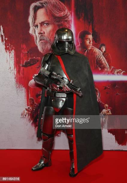 Fans pose during Star Wars The Last Jedi Sydney Screening Event on December 13 2017 in Sydney Australia