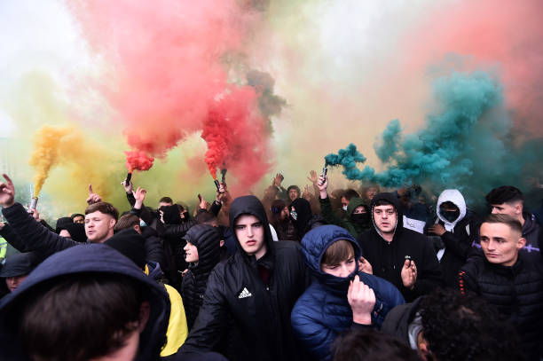 GBR: Manchester United Fans Protest Against Glazer Family Ownership