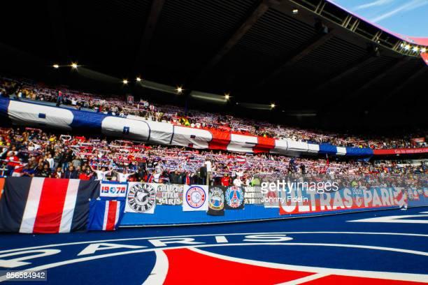 Fans PSG during the Ligue 1 match between Paris Saint Germain and FC Girondins de Bordeaux at Parc des Princes on September 30 2017 in Paris