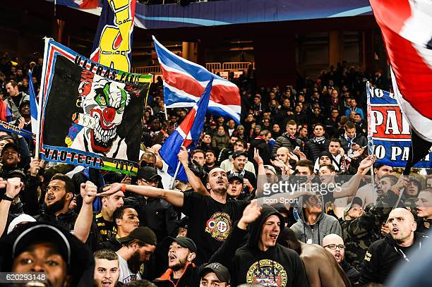 Fans PSG during the Uefa Champions League match between FC Basel and Paris Saint Germain PSG on November 1 2016 in Basel Switzerland