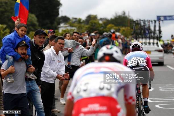 Fans / Public / Peloton / Detail view / during the 3rd Tour of Colombia 2020, Stage 5 a 180,5km stage from Paipa to Zipaquirá / @TourColombiaUCI /...