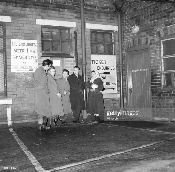 Fans queue at Old Trafford for tickets to see Manchester United verses Sheffield Wednesday in the postponed 5th round fifth round FA Cup tie this...