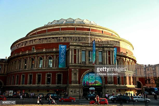 Fans queue outside for the Last Night of the Proms at Royal Albert Hall on September 12, 2009 in London, England.