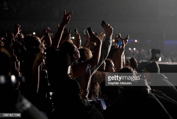 Fans react as A$AP Rocky performs at The Armory on January 08 2019 in Minneapolis Minnesota