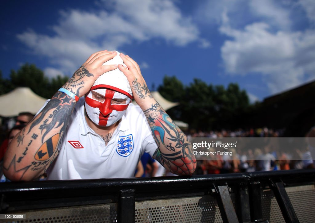 England Fans Watch The World Cup Crunch Match Against Germany