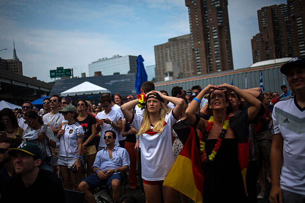 NY: Soccer Fans Gather To Watch Argentina v Germany World Cup Final Match In New York City