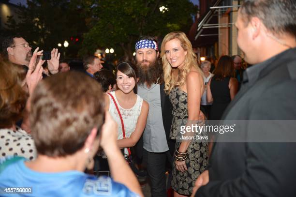 Fans react to seeing Willie Robertson during The Song Movie premier at Franklin Theatre on September 19 2014 in Franklin Tennessee