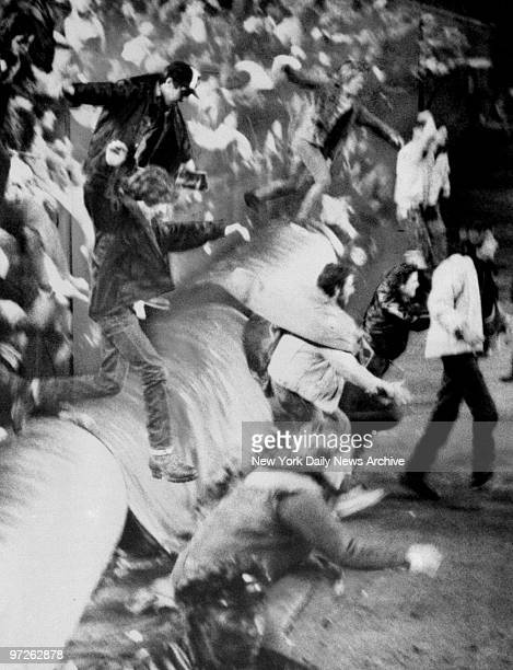 Fans riot at Shea Stadium during The Who's farewell concert