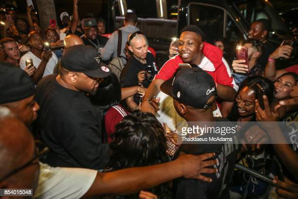 Fans rush Cardi B as she leaves Revolution Live on September 25 2017 in Fort Lauderdale Florida