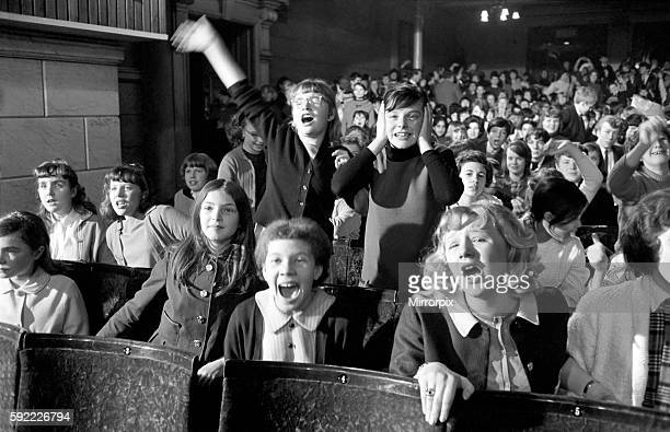 Fans screaming during a Beatles concert in their hometown of Liverpool July 1964 S06231A001